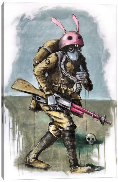Rabbit Troops Canvas Art Print
