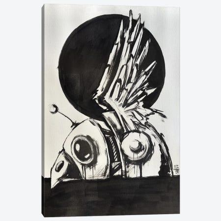 Bird Robot Drawing Canvas Print #RSA4} by Ruslan Aksenov Canvas Artwork
