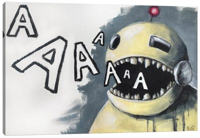 Robot Singer Canvas Art Print