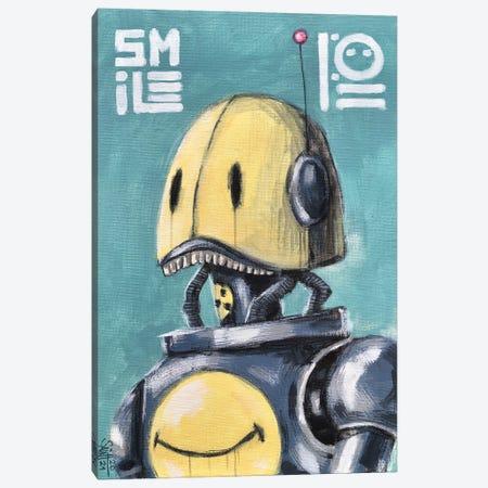 Smile Robot Canvas Print #RSA60} by Ruslan Aksenov Canvas Print