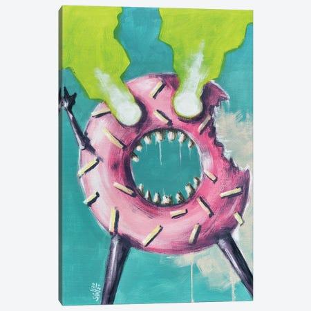 Zombie Donut Canvas Print #RSA76} by Ruslan Aksenov Art Print