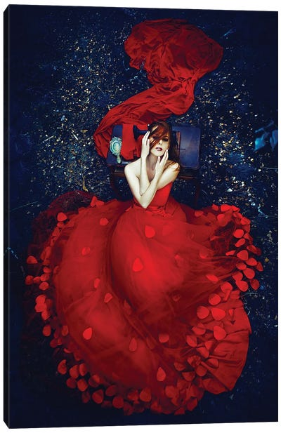The Red Seamstress Canvas Art Print