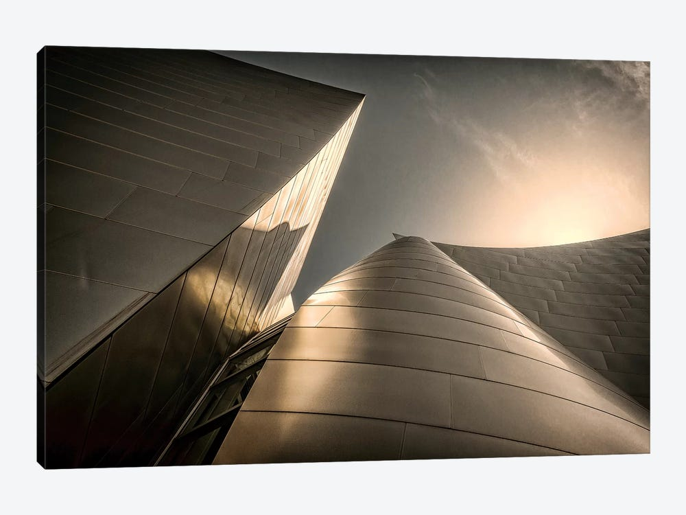 Low-Angle View Of Exterior, Walt Disney Music Hall, Los Angeles, California, USA by Rona Schwarz 1-piece Canvas Wall Art