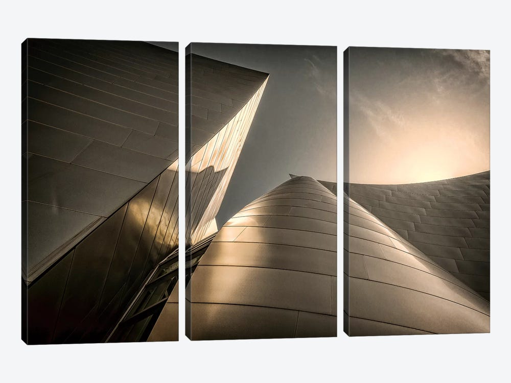 Low-Angle View Of Exterior, Walt Disney Music Hall, Los Angeles, California, USA by Rona Schwarz 3-piece Canvas Art