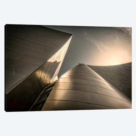Low-Angle View Of Exterior, Walt Disney Music Hall, Los Angeles, California, USA Canvas Print #RSC1} by Rona Schwarz Canvas Art Print
