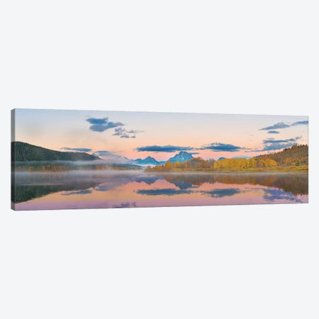 Sunrise at Oxbow Bend in fall, Grand Teton National Park, Wyoming I Canvas Print #RSD5} by Richard & Susan Day Canvas Art Print
