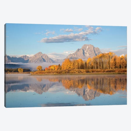 Sunrise at Oxbow Bend in fall, Grand Teton National Park, Wyoming II Canvas Print #RSD6} by Richard & Susan Day Canvas Print