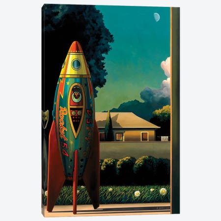 Rocketman Canvas Print #RSJ10} by Ross Jones Canvas Print