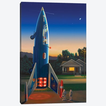 Destination Moon Canvas Print #RSJ29} by Ross Jones Canvas Wall Art