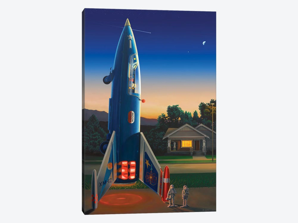 Destination Moon by Ross Jones 1-piece Canvas Wall Art