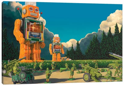 Hold The Line Canvas Art Print