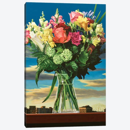 Summer In A Vase Canvas Print #RSJ32} by Ross Jones Canvas Print