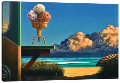 Triple Scoop Canvas Art Print