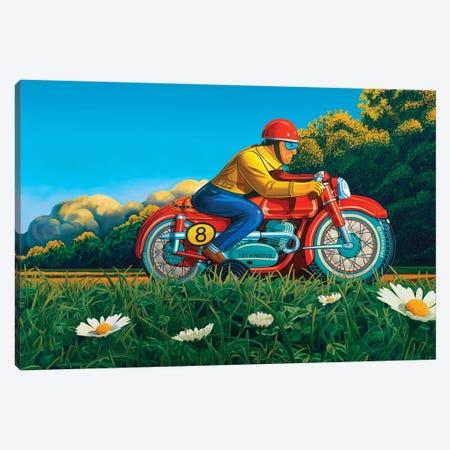 Red Racer Canvas Print #RSJ50} by Ross Jones Art Print