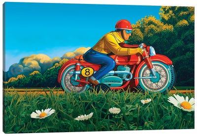 Red Racer Canvas Art Print