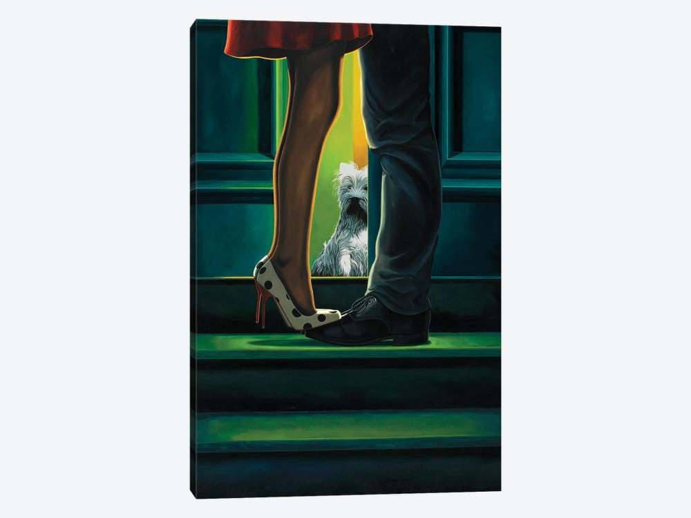 Learning To Share by Ross Jones 1-piece Canvas Art Print