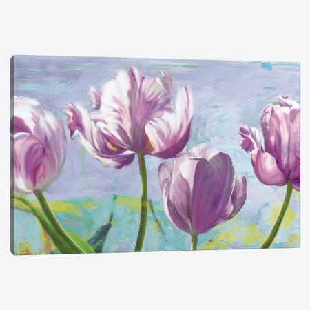 Lilac Tulips Canvas Print #RSL2} by Robin Sadler Canvas Artwork