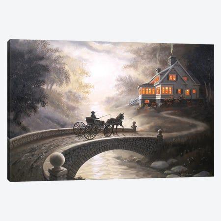 "Home By Sundown Canvas Print #RSR108} by D. ""Rusty"" Rust Canvas Art"