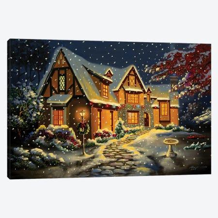 "Pretty House Snow Scene Canvas Print #RSR127} by D. ""Rusty"" Rust Canvas Print"