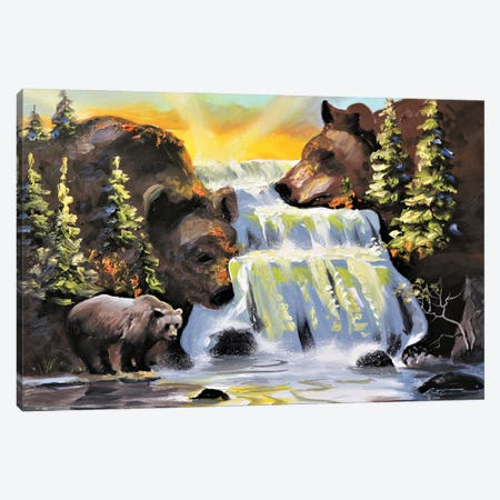 """Bears Illusion Canvas Print #RSR14} by D. """"Rusty"""" Rust Canvas Wall Art"""