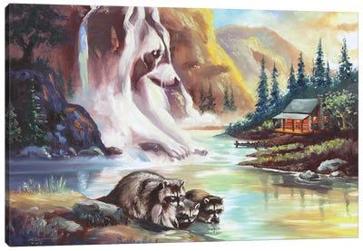 Raccoons! Canvas Art Print