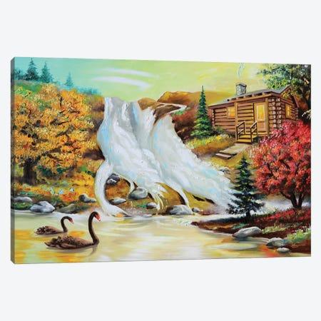 "Three Swans Canvas Print #RSR182} by D. ""Rusty"" Rust Canvas Art"