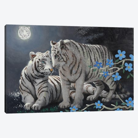 """Tiger's Moon Canvas Print #RSR187} by D. """"Rusty"""" Rust Canvas Print"""