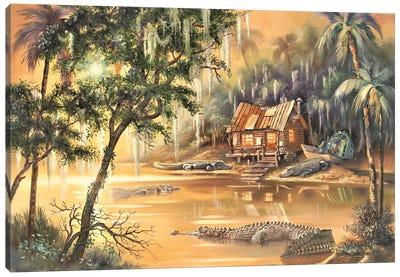Gator Bayou Canvas Art Print
