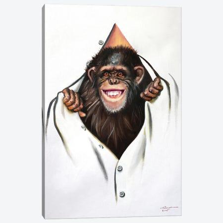 "Chimp Canvas Print #RSR220} by D. ""Rusty"" Rust Art Print"