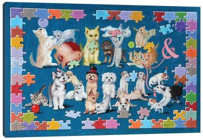 Kits And Pups Canvas Art Print