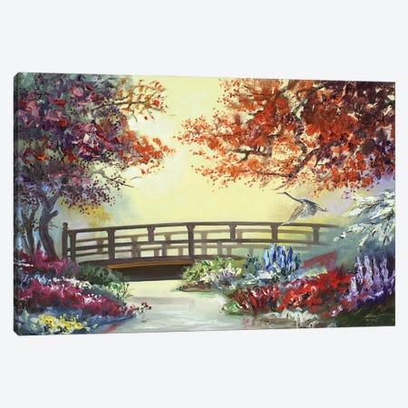 "Heron by the Bridge Canvas Print #RSR270} by D. ""Rusty"" Rust Canvas Art"