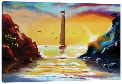 Butterfly Lagoon - Illusion Canvas Art Print