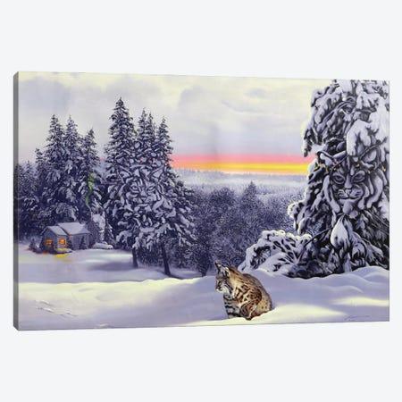"Bobcat - Illusion Canvas Print #RSR313} by D. ""Rusty"" Rust Canvas Art Print"