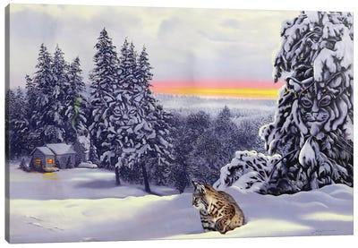 Bobcat - Illusion Canvas Art Print