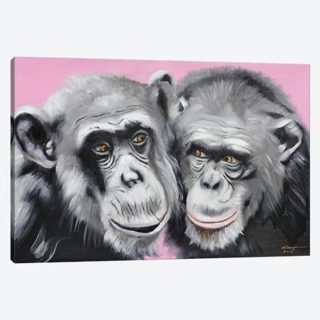 "Loving Chimps Canvas Print #RSR315} by D. ""Rusty"" Rust Canvas Artwork"