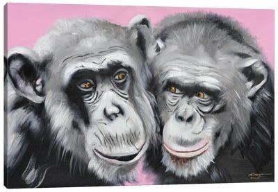 Loving Chimps Canvas Art Print