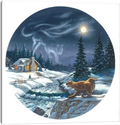 Cougar - Illusion Canvas Art Print