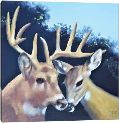 Buck And Doe Canvas Art Print