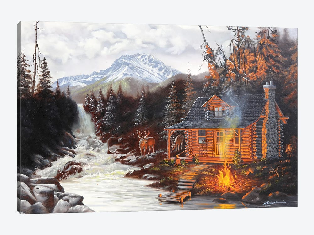 """Gone Fishing - Illusion by D. """"Rusty"""" Rust 1-piece Canvas Print"""