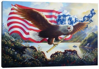 Eagle Us Map Canvas Art Print