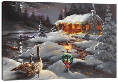 Christmas Geese Canvas Art Print