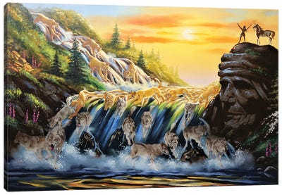 Running Water - Illusion Canvas Art Print