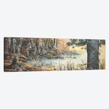 """The Hunter's Blind - Illusion Canvas Print #RSR362} by D. """"Rusty"""" Rust Canvas Art"""