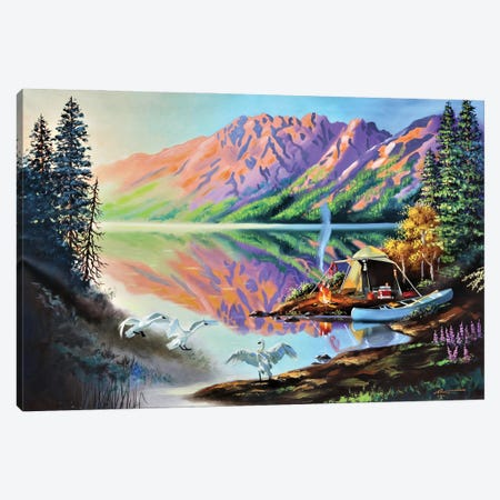 """Camping In The Wilderness Canvas Print #RSR370} by D. """"Rusty"""" Rust Canvas Print"""