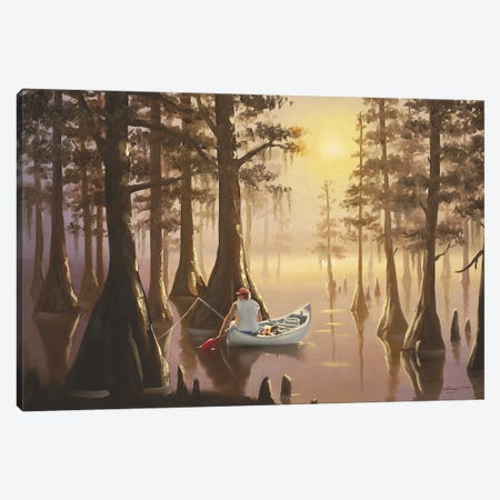 """Serenity On The Marsh Canvas Print #RSR377} by D. """"Rusty"""" Rust Canvas Artwork"""