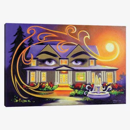 """Eyes On You - House Illusion Canvas Print #RSR381} by D. """"Rusty"""" Rust Canvas Wall Art"""
