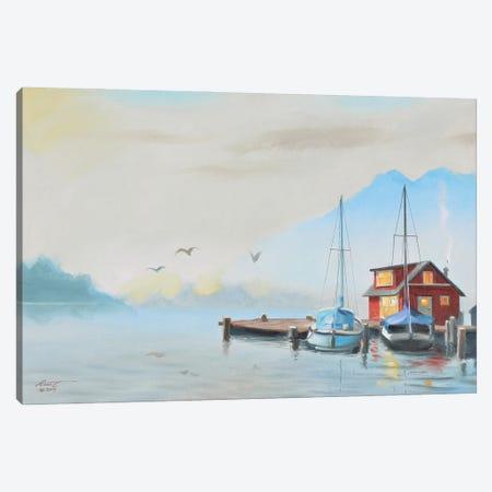"Boathouse Canvas Print #RSR384} by D. ""Rusty"" Rust Art Print"