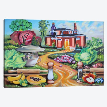 """Home Cooking Canvas Print #RSR390} by D. """"Rusty"""" Rust Art Print"""
