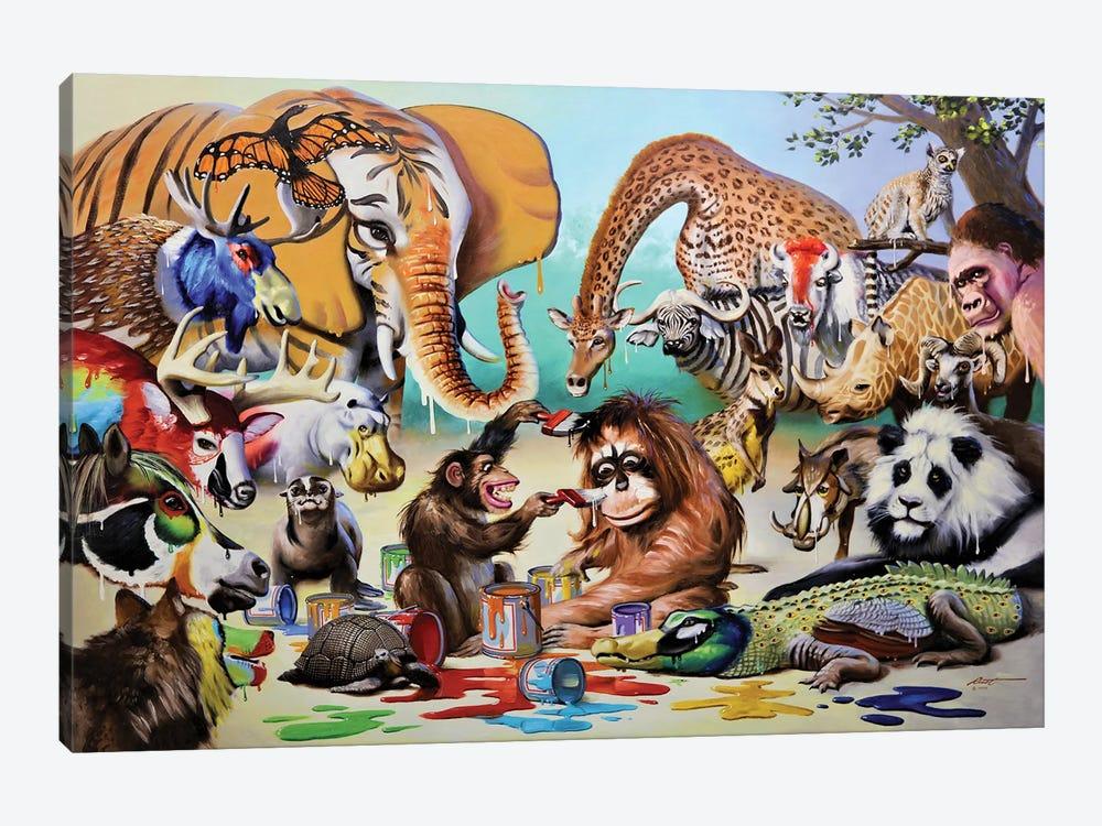 """Monkeyangelo by D. """"Rusty"""" Rust 1-piece Canvas Art"""