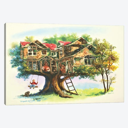 """Tree House Of Wildlife Canvas Print #RSR406} by D. """"Rusty"""" Rust Canvas Art"""